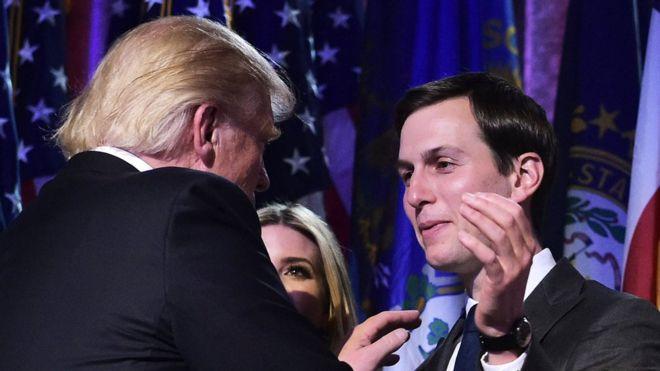Foto: AFP/MANDEL NGAN Pada masa kampanye, Jared Kushner sering terlihat berada di samping mertuanya, Donald Trump.