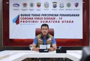 JUBIR: Jubir GTPP Covid-19 Sumut, Mayor Kes dr Whiko Irwan SpB menyampaikan data kasus di Sumut. Hingga Minggu (19/7), total kasus positif di Sumut 2.937 orang, sembuh 719 orang, dan meninggal 147 orang.
