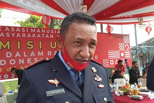 Kalapas Klas I Tanjunggusta Medan, Frans Elias Nico usai memperingati Hari Kemerdekaan RI ke 75, Senin (17/8).