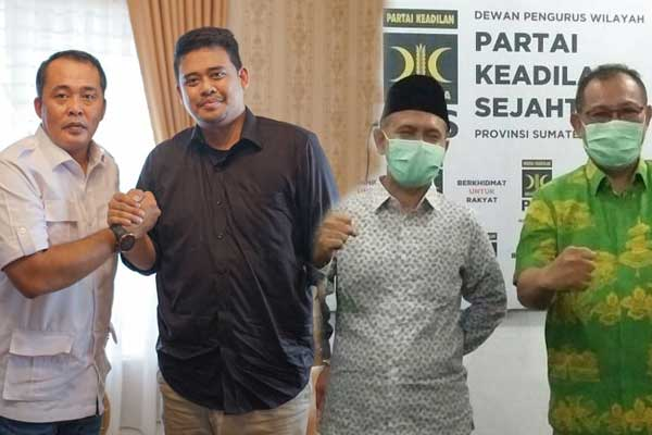 SIAP TARUNG: Dua pasangan bakal calon Wali Kota dan Wakil Wali Kota Medan yakni Akhyar Nasution-Salman Alfarisi dan Bobby Nasution-Aulia Rachman bakal bertarung di Pilkada Medan, 9 Desember 2020.
