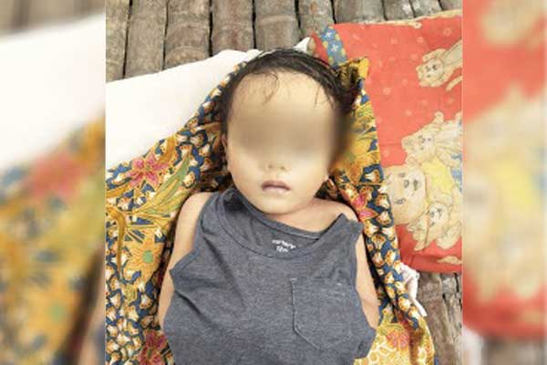 TEWAS: Bocah yang ditemukan tewas di Sungai Bekala, Perumnas Simalingkar, Kelurahan Mangga. Kecamatan Medan Tuntungan, Minggu (13/9).