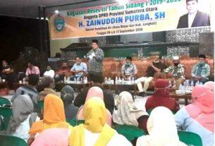 RESES: Juliadi-Amir saat hadir dalam reses Anggota DPRD Sumut, baru-baru ini.TEDDY AKBARI/SUMUT POS.