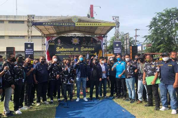 Ketua DPD AMPI Sumatera Utara, Dr David Luther Lubis bersama Pengurus dan Kader AMPI usai pelantikan.