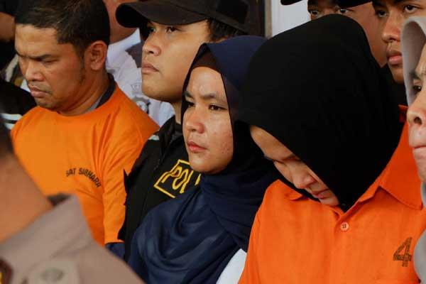 VONIS MATI: Tiga pelaku pembunuhan Hakim Jamaluddin divonis hukuman mati. Yakni Zuraida Hanum, Jefri Pratama, dan Reza Fahlevi.