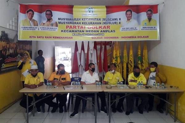 MUSYAWARAH: DPD II Partai Golkar Medan menggelar Musyawarah Kecamatan  X dan Musyawarah Kelurahan  X  se-Kecamatan Medan Amplas.prans/sumu tpos.