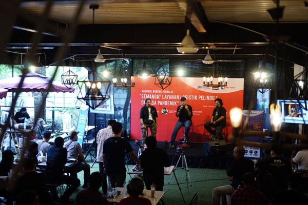 Ngobrol Bareng: Kegiatan Ngobrol Bareng Jurnalis yang bertema Semangat Layanan Logistik Pelindo 1 di Masa Pandemi di Kito Art Cafe,  Jalan KH.Wahid Hasyim Medan, Minggu (11/10).Istimewa/Sumut Pos.