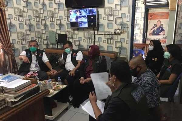 KUNJUNGAN KERJA: Kepala BPBD Binjai menerima rombongan BNPB saat melakukan kunjungan kerja.