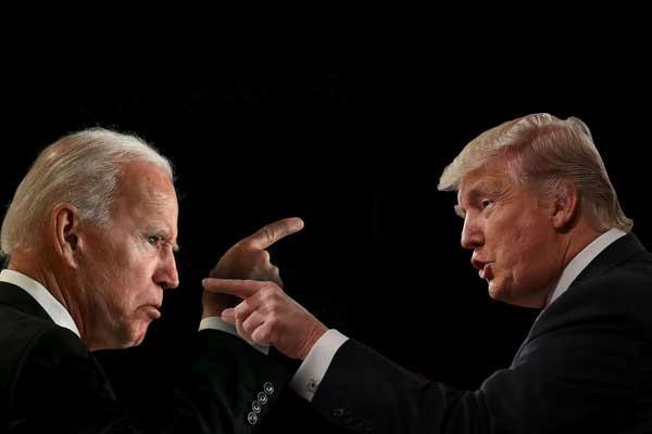 Calon Presiden AS, Joe Biden dan Donald Trump berseteru dalam Pilpres.