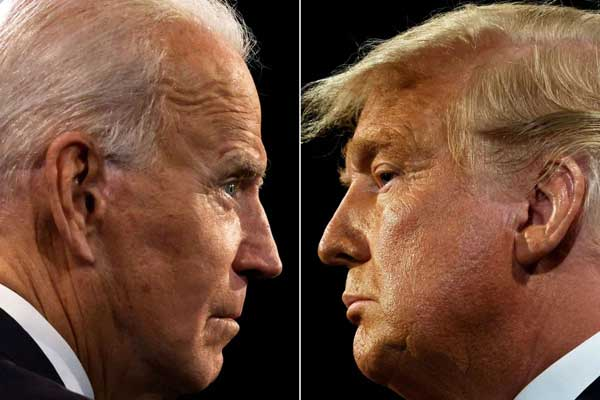 PILPRES AS: Capres dari Partai Demokrat, Joe Biden, makin mendekati kemenangan. Rivalnya, calon petahana Donald Trump, menuduh Pilpres curang.