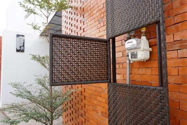 METERAN: BerandaMas yang dibangun di kawasan Bekasi dilengkapi dengan meteran untuk memudahkan pengguna menggunakan bahan bakar gas bumi.