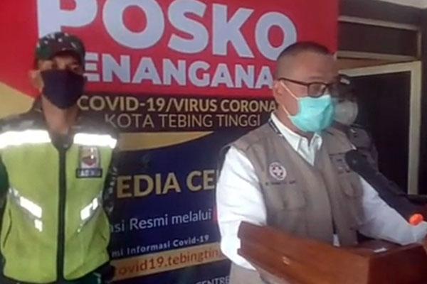 Juru bicara GTPP Covid-19 Kota Tebingtinggi, dr Nanang Fitra Aulia.