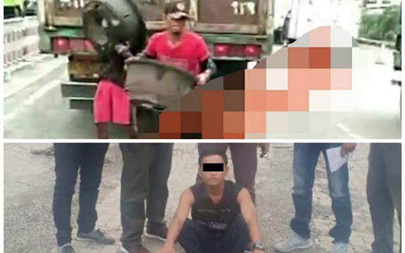 TERSANGKA: Pelaku bajing lonjat yang pernah viral dan ditangkap kepolisian, beberapa waktu lalu.