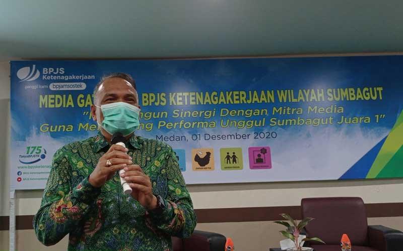 Deputi Direktur Wilayah BPJamsostek Sumbagut, Panji Wibisana. M IDRIS/sumut pos.