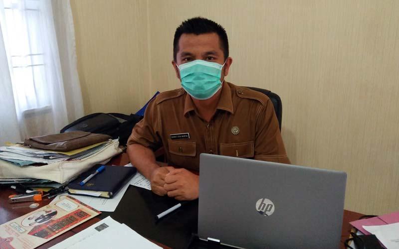 Ketua Bidang Komunikasi Publik Satgas Covid-19 Dairi, Rahmatsyah Munthe.RUDY SITANGGANG/SUMUT POS.