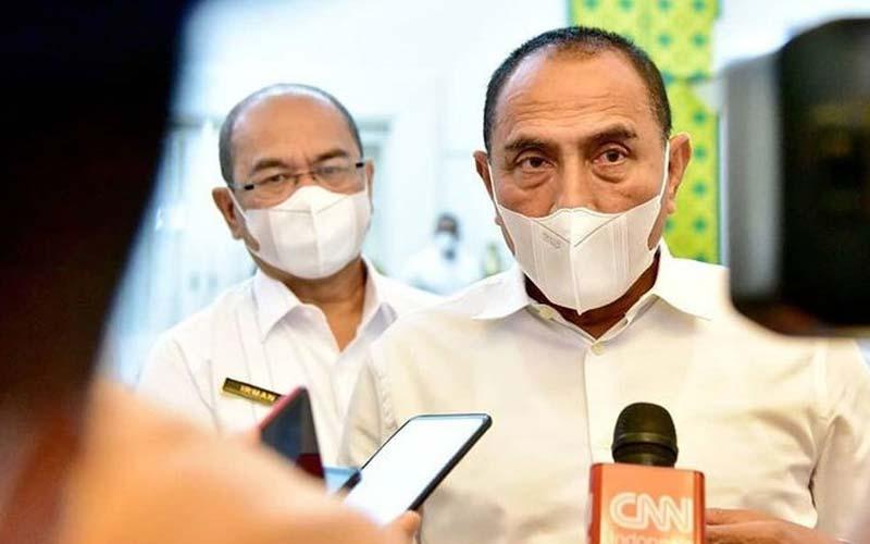 TUNDA: Gubernur Sumut, Edy Rahmayadi menunda pembelajaran tatap muka di Sumut hingga Maret.